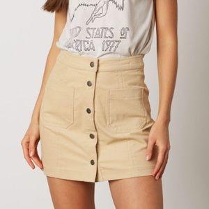 She + Sky Corduroy Snap Skirt